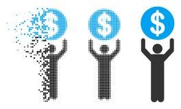 Banquier tramé pointillé rompu Icon illustration de vecteur