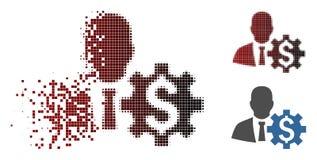 Banquier tramé réduit en fragments Options Icon de pixel illustration libre de droits