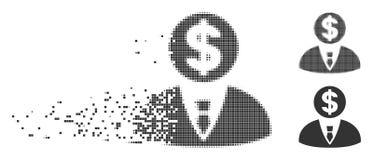 Banquier tramé rompu Icon de pixel illustration de vecteur