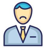 Banquier Vector Icon qui peut facilement modifier ou éditer illustration stock