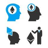 Banquier Vector Icon Set d'Ethereum illustration stock