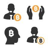 Banquier Vector Icon Set de Bitcoin illustration de vecteur