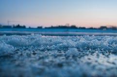Banquisas de gelo no rio alemão elbe em Geesthacht, perto de Hamburgo Foto de Stock