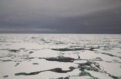 Banquise en mer arctique Photographie stock libre de droits