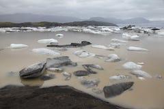Banquises dans le glacier de l'Islande Photos libres de droits