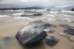 Banquises dans le glacier de l'Islande Photographie stock