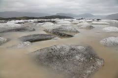 Banquises dans le glacier de l'Islande Photos stock