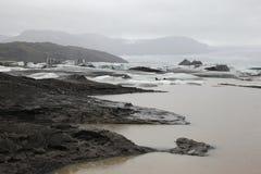 Banquises dans le glacier de l'Islande Photo libre de droits