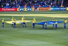 banret 2010 fifa flag wc Arkivfoto