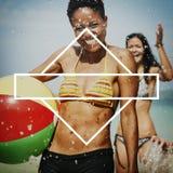 Banret annonserar begrepp för Kopia-utrymme meddelandemall royaltyfri bild