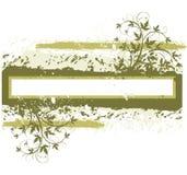 banret blommar grunge vektor illustrationer