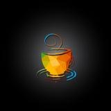 Banret kuper av kaffe vektor illustrationer
