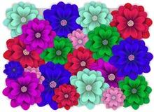 Banret med den färgrika blomman för att gifta sig, födelsedag, semestrar royaltyfri illustrationer