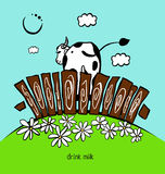 Banret mjölkar Arkivbilder