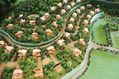 Banshanshu villa model Royalty Free Stock Photos