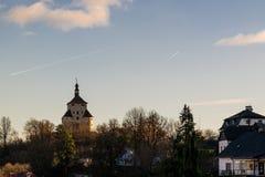 Banská Štiavnica Slowakije royalty-vrije stock foto's