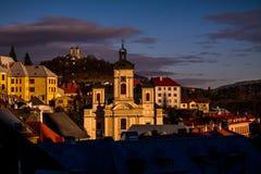 Banská Štiavnica Slowakije royalty-vrije stock afbeeldingen