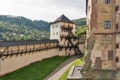 banska城堡老斯洛伐克stiavnica 库存照片