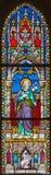 BANSKA BELA, SLOVAQUIE - 5 FÉVRIER 2015 : Le St Joseph sur la vitre de St John l'église d'évangéliste de la fin de 19 cent Photo libre de droits