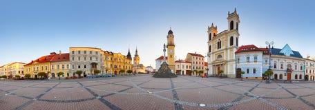 Banska Bystrica,斯洛伐克全景  免版税库存图片