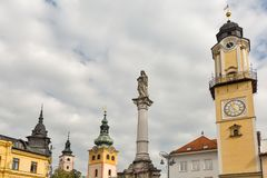 Banska Bystrica,斯洛伐克塔  免版税库存照片