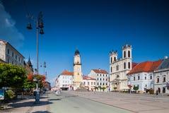 Banska Bystrica -主要老正方形 库存照片