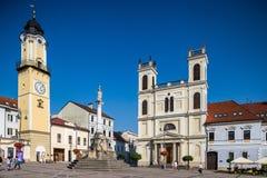 Banska Bystrica -主要老正方形 免版税图库摄影