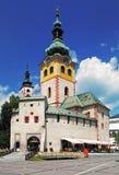 Banska Bystrica - Barbakan城堡 库存照片