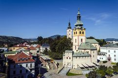 Banska Bystrica. Centrum of Slovakia stock photography