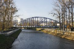 Banska Bystrica, Eslovaquia - puente imágenes de archivo libres de regalías