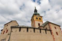 Banska Bystrica kasztel w Sistani Fotografia Stock