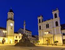 Banska Bystrica`s main square, Slovakia Stock Photography