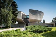 Banska Bystrica, Slovakia - Modern building of Museum stock photos