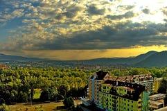 Banska Bystrica, stad, Slovakien Arkivbilder