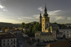 Banska Bystrica. Sunset in Banska Bystrica, Slovakia royalty free stock image