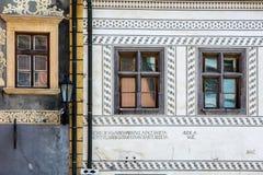 banska Slovakia stiavnica Szczegół starzy domy Zdjęcia Royalty Free