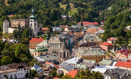 Banska Stiavnica历史开采城镇斯洛伐克 图库摄影