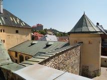 Banska Stiavnica屋顶  库存照片