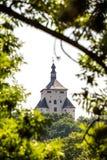 Banska Stiavnica,斯洛伐克-新的城堡 库存图片
