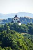 Banska Stiavnica,斯洛伐克-新的城堡 图库摄影