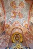 Banska Stiavnica - η νωπογραφία στη χαμηλότερη εκκλησία μπαρόκ calvary από το Anton Schmidt από τα έτη 1745 Στοκ εικόνες με δικαίωμα ελεύθερης χρήσης