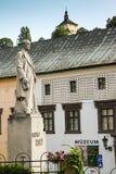 Banska Stiavnica, старые замок и исторические здания и городской, Словакия Стоковая Фотография