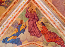 Banska Stiavnica - The angels on the ceiling of parish church from year 1910 by P. J. Kern Royalty Free Stock Photography