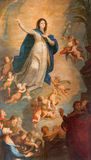 Banska Stiavnica - baroque paint of The Assumption of Virgin Mary in parish church by painter from Vienna Vincent Fisher (1811). Royalty Free Stock Photo