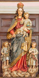 Banska Stiavnica - The carved and polychrome statue of Madonna in parish church by unknown artist of 19. cent. Royalty Free Stock Photos