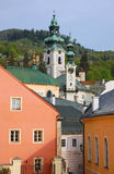 Banska Stiavnica, castillo viejo Fotos de archivo libres de regalías