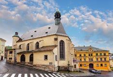 Banska Stiavnica, chiesa della st Katharine, Slovacchia Fotografie Stock