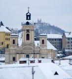 Banska Stiavnica - church and calvary Royalty Free Stock Photography
