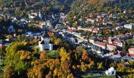 Banska Stiavnica, città dell'Unesco Fotografia Stock Libera da Diritti