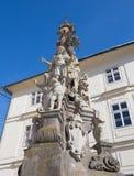 "Banska Stiavnica - de barokke kolom van Immaculata door Dioniz Ignac Staneti 1663 †""1725 Stock Afbeelding"